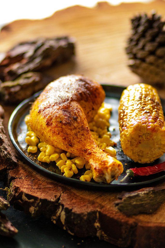 Cuisse de Poulet Fermier des landes cuisinée au barbecue