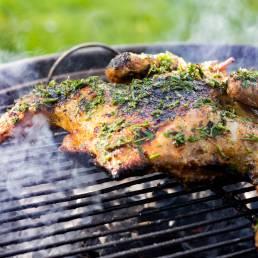 Poulet Fermier des Landes au barbecue