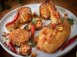 Recette de cuisses de Poulet Fermier des Landes grillées au piment, ail et herbes fraîches