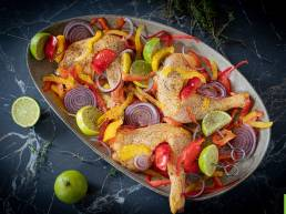 Recette de brochettes de poulet au citron vert et au poivron