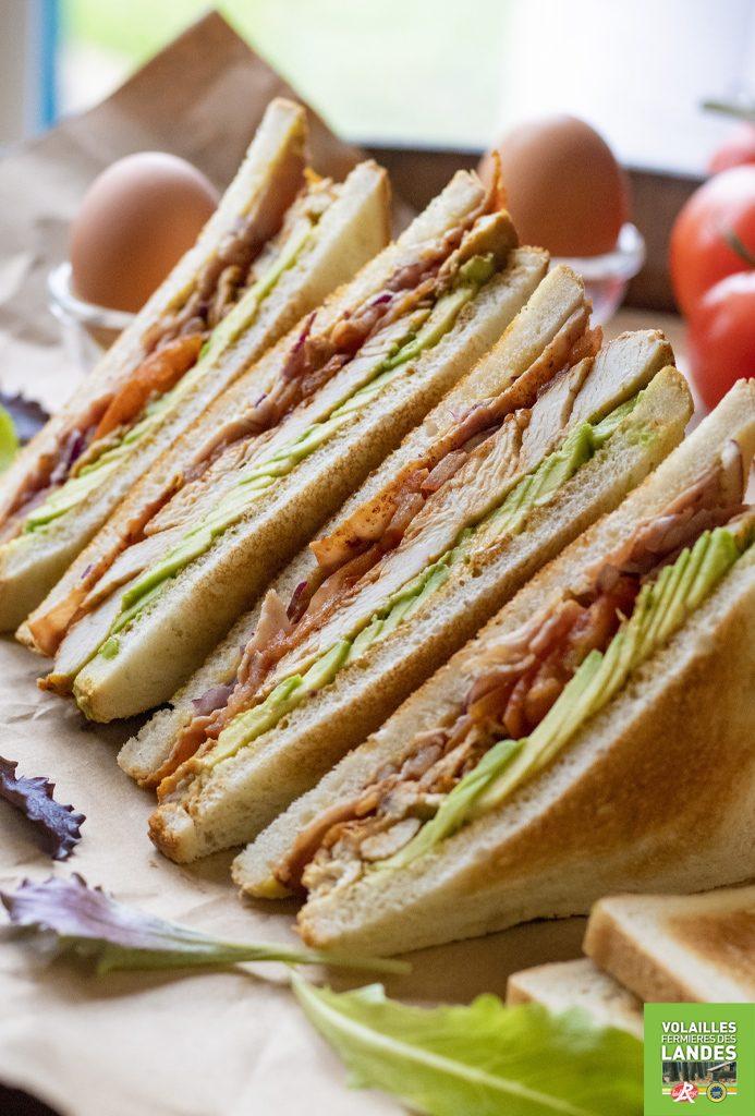 Club sandwich au Poulet Fermier des Landes