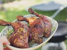 Cuisses de Poulet Fermier des Landes grillées au barbecue et sauce tomate-ail