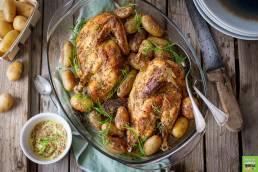 Recette de poulet doré à la moutarde et à l'estragon